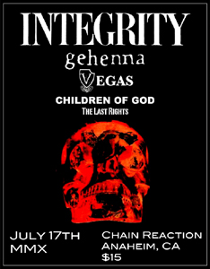 Integrity July 17, 2010 Show In Los Angeles
