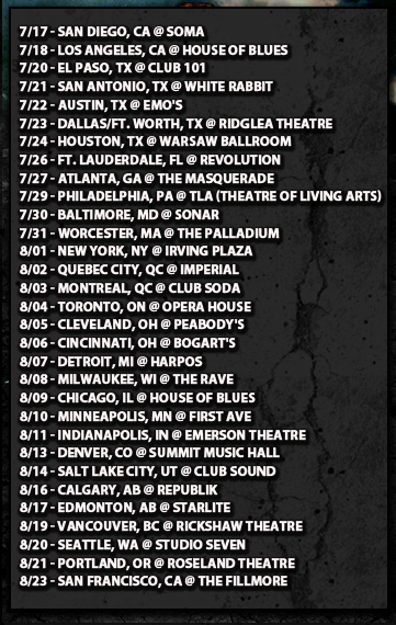 Summer Slaughter Tour Dates