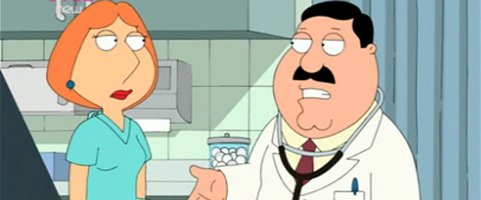 Image from Banned Family Guy abortion episode Partial Terms of Endearment