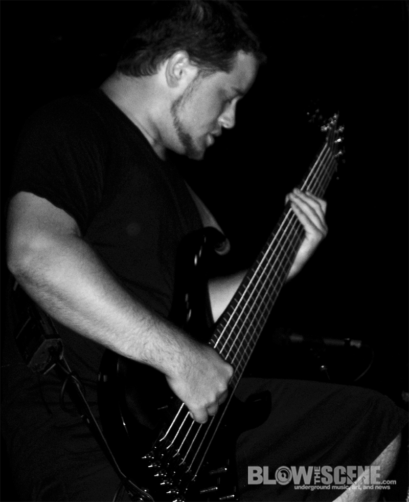 Mike Tiner of All Shall Perish Live Photo in Phila 7-29-2010 on Summer Slaughter Tour