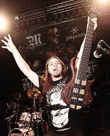 Nick Schendzielos on Bass with Cephalic Carnage