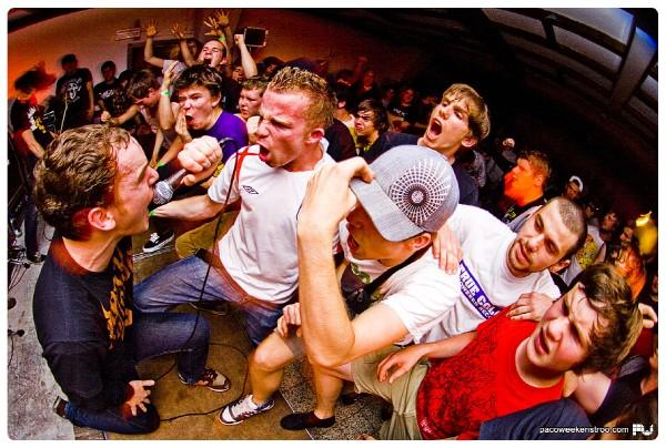 Belgium Hardcore band Rise and Fall Live in 2008