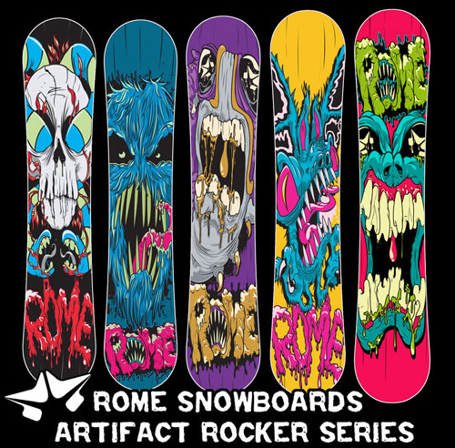 Matt Gondek Artwork for Rome Snowboards