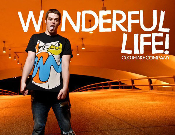 Matt Gondek Original Art for his Clothing Line Wonderful Life