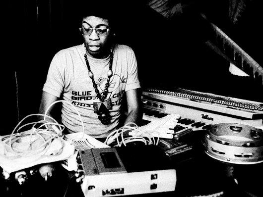 Herbie Hancock with gadgets