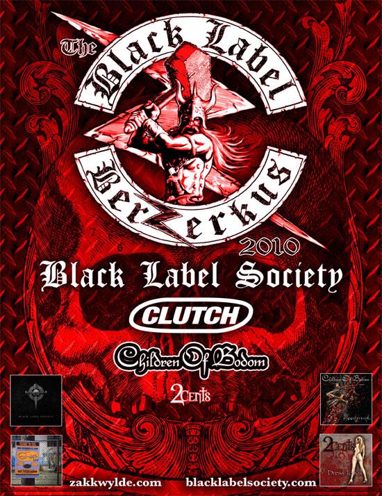 Black Label Society Berzerkus Tour Poster 2010