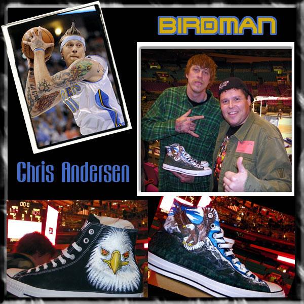 2ff66ada40dd45 Custom Chucks for Chris The Birdman Anderson by MAG