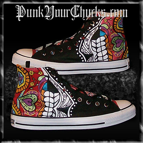 Custom Chucks for Day of the Dead by MAG
