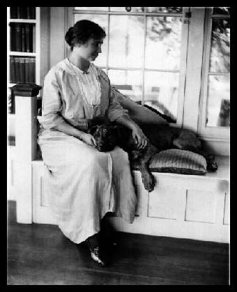 Helen Keller with her beloved pet Pitbull