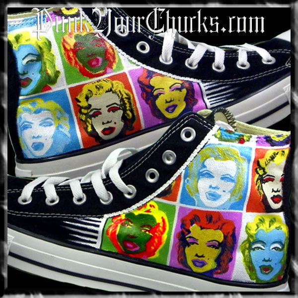 Andy Warhol Marilyn Monroe Custom Chucks by MAG