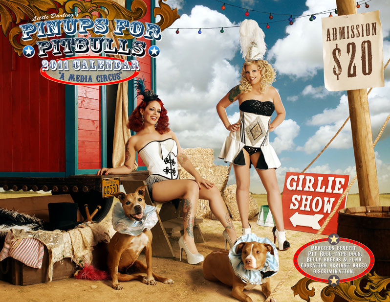 Pinups For Pitbulls 2011 Calendar Cover