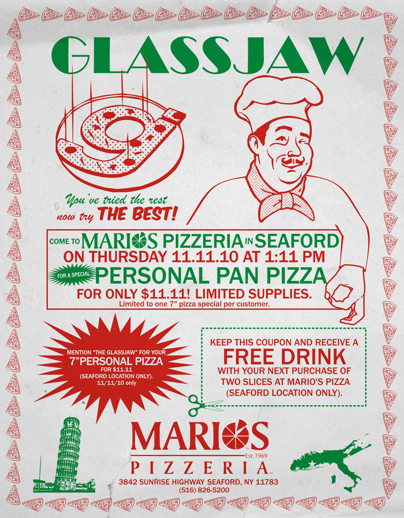 Glassjaw Pizza Flyer