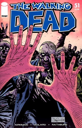 The walking dead invading your tv blow the scene