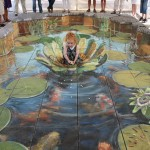 Julian Beever - Feeding the Fish