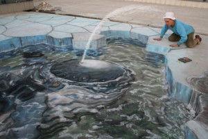 Julian Beever - 3d sidewalk chalk art - Lets Be Friends