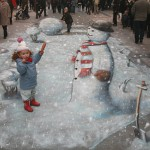 Julian Beever - Making Mr Snowman
