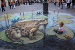 Julian Beever - Meeting Mr Frog