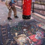 Julian Beever - Placing the Orders Christmas 2007