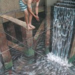 Julian Beever - Taking The Plunge