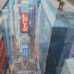 Julian Beever - Time Square in Time Square