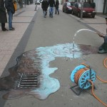 Julian Beever - Waste of Water
