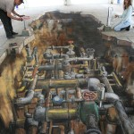 Julian Beever - Yorkshire Water