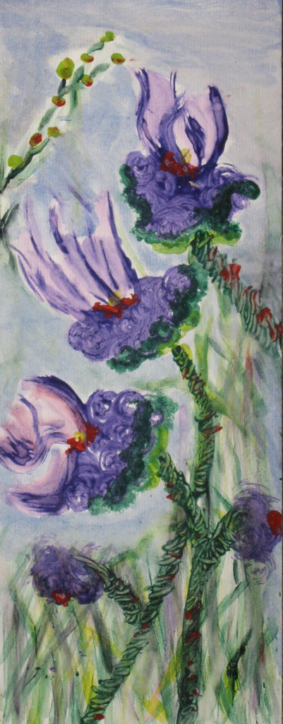 Darrell Kinsel - Crayon Flowers Painting