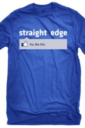 1981 Clothing Straightedge Facebook T-Shirt