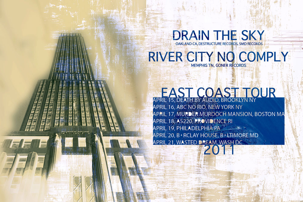 Drain the Sky and River City No Comply 2011 US Tour