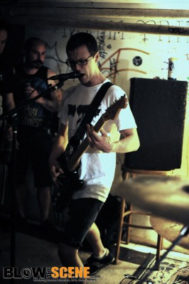 Logan Neubauer performing with Gash - Philly House Shows IV
