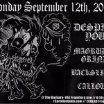 Despise You and Magrudergrind Philly Show Poster Sept 12, 2011