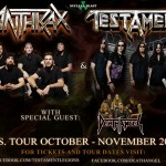 Anthrax and Testament 2011 Tour