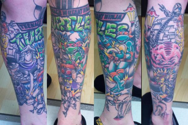 Adam Potts - Ninja Turtles Tattoo