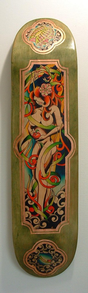 Adam Potts - Skateboard Deck Watercolor Painting