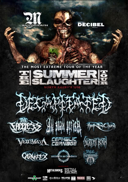 Summer Slaughter Tour Flyer