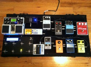 Chris's pedalboard