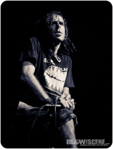 Lamb of God singer Randy Blythe live in Philadelphia in January 2012