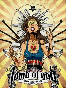 Lamb of God - Philly Poster by Larry West