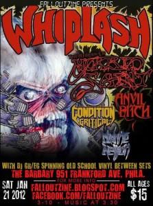 Whiplash - Jan 14, 2012 Show Poster