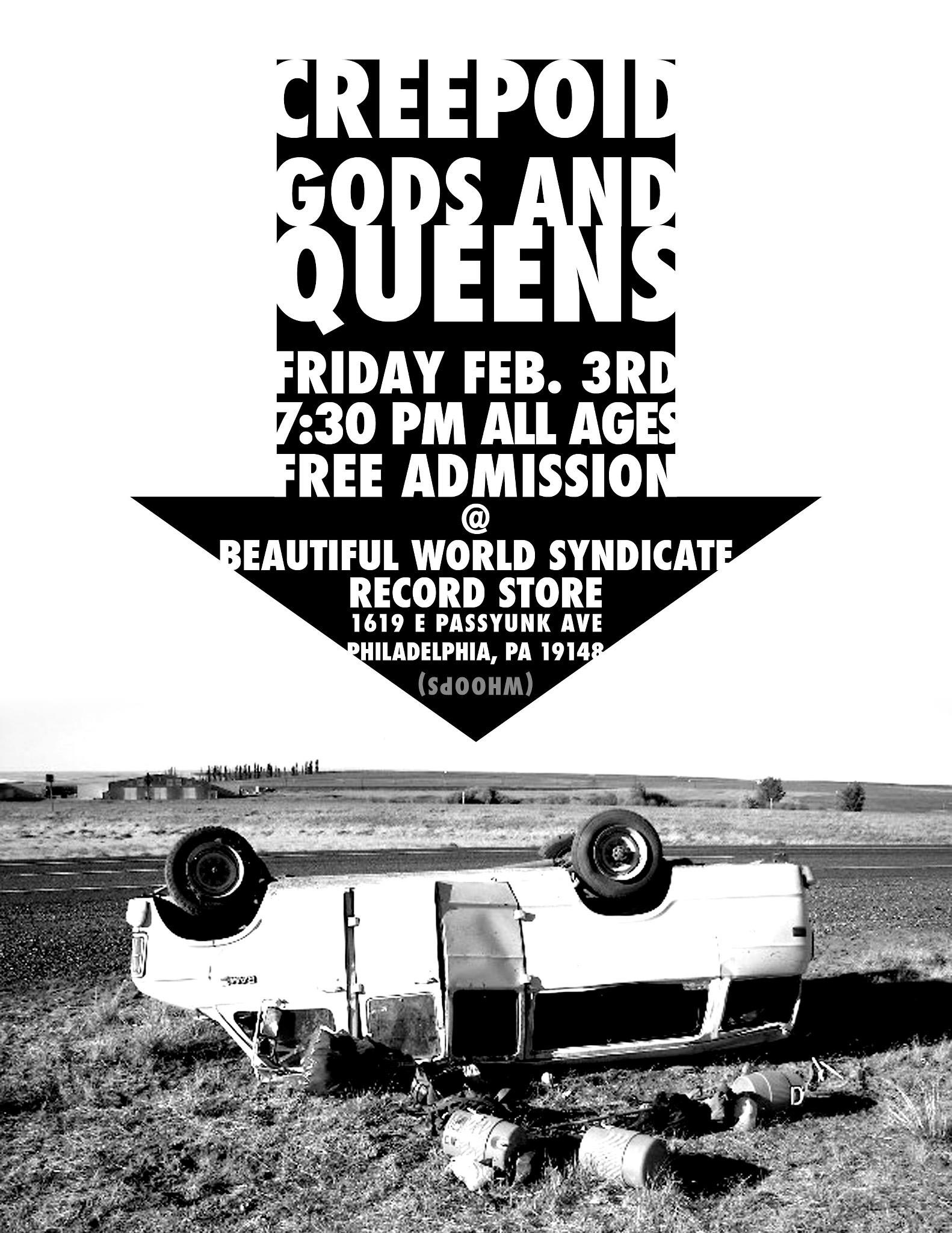 Gods and Queens - Van Flyer with Creepoid