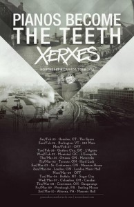 Xerxes and Pianos Become The Teeth US Tour