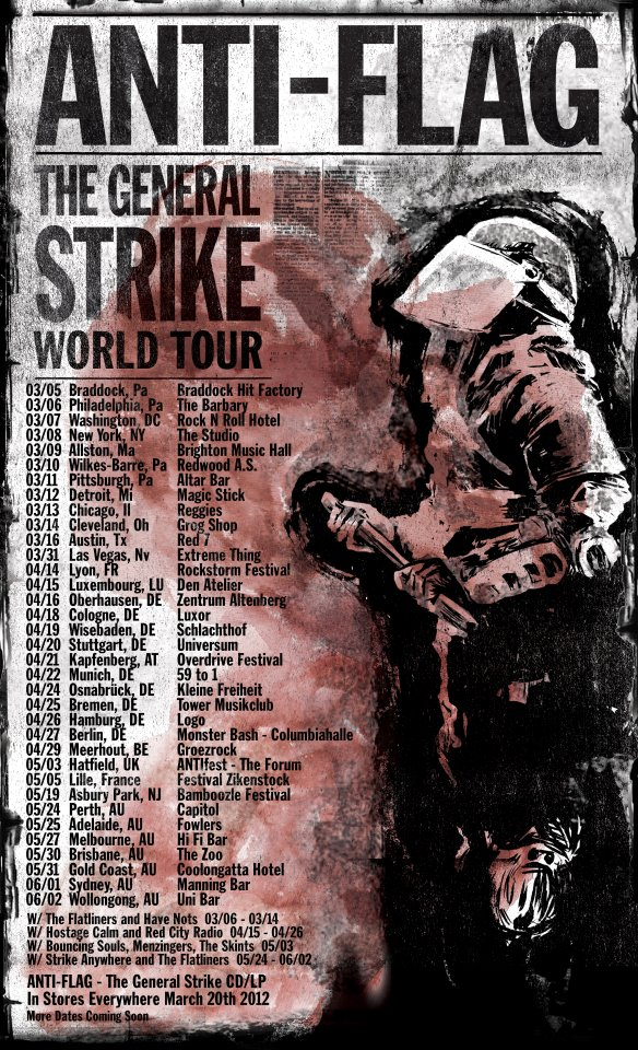 Anti-Flag The General Strike Tour