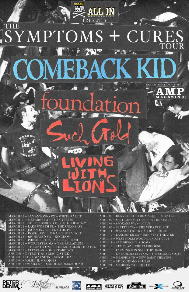 Comeback Kid Us Tour 2012