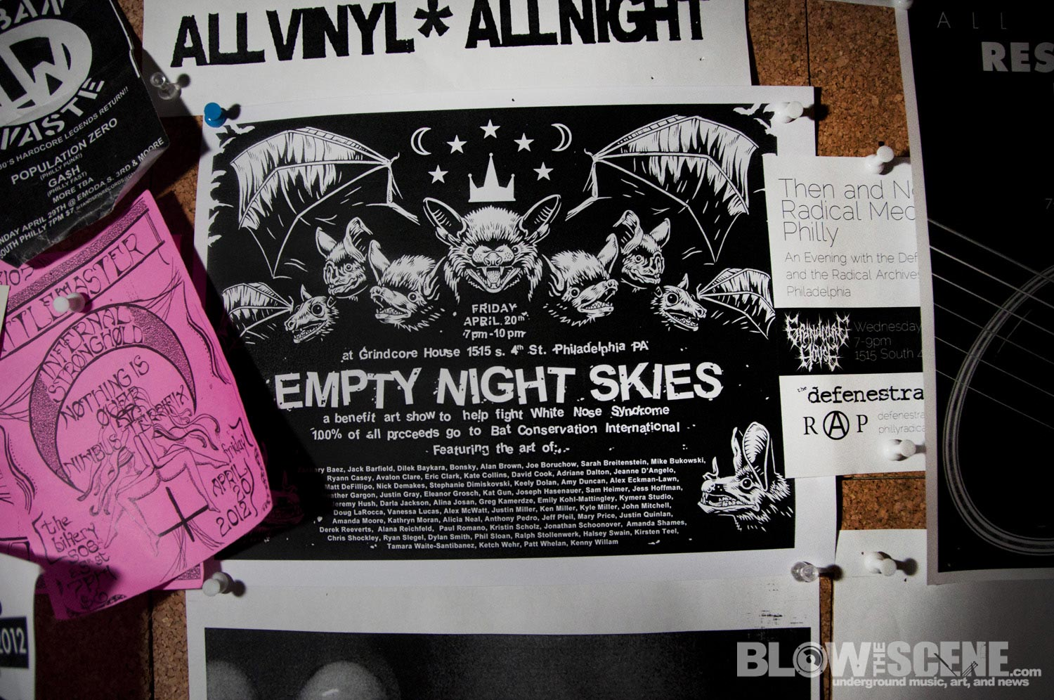 Empty Night Skies - Art Show Benefit For Bats - Grindcore House