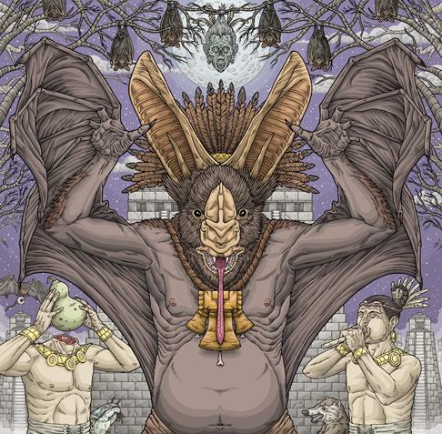 Michael Bukowski - Bat art piece