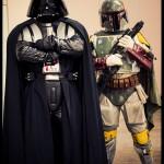 Comic Con Philadelphia 2012 Star Wars Darth Vader and Boba Fett