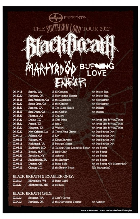 Southern Lord US Tour 2012