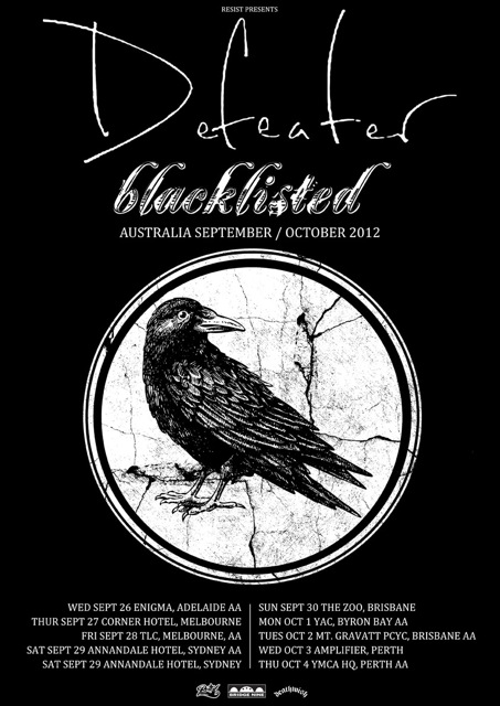 Defeater and Blacklisted tour 2012