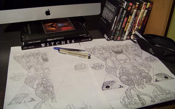 My messy work station - Michael Bukowski