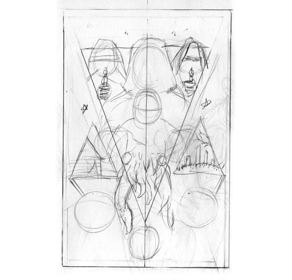 My slightly less idiotic sketch - Michael Bukowski art